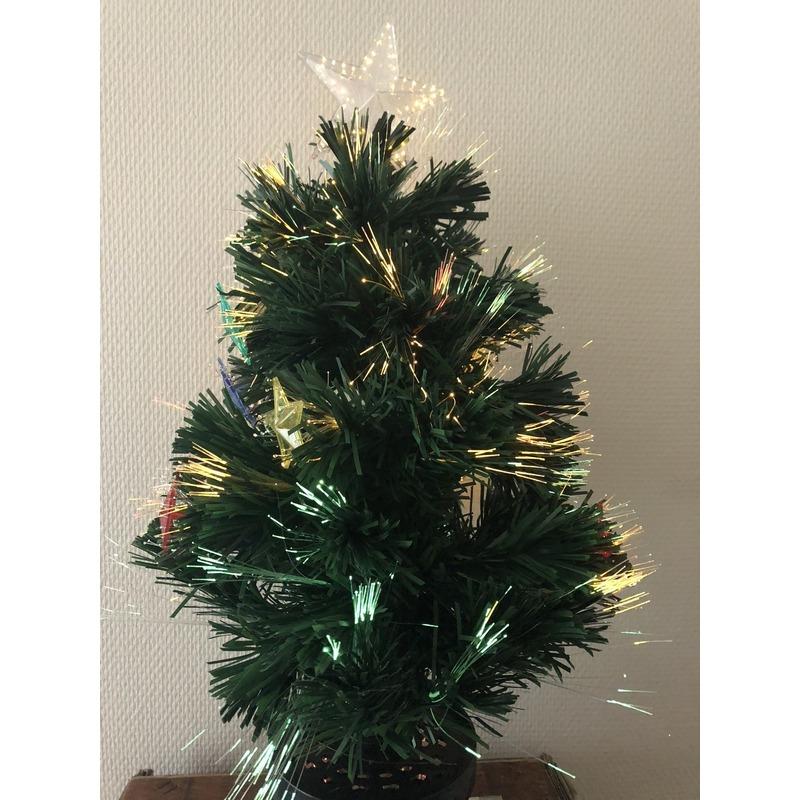 Mini kunst kerstboom met verlichting en versiering 60 cm | Fun en Feest