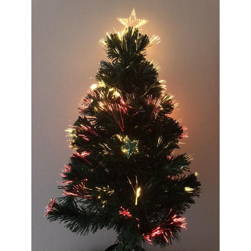 Mini Kunst Kerstboom Met Verlichting En Versiering 90 Cm Fun En Feest
