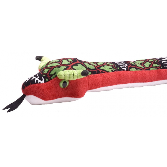 Knuffeldier rode slang 137 cm