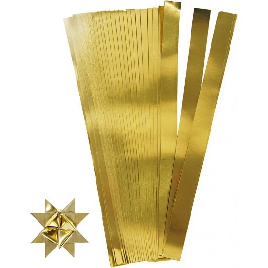 Knutselmateriaal papierstroken goud 73 cm Goudkleurig
