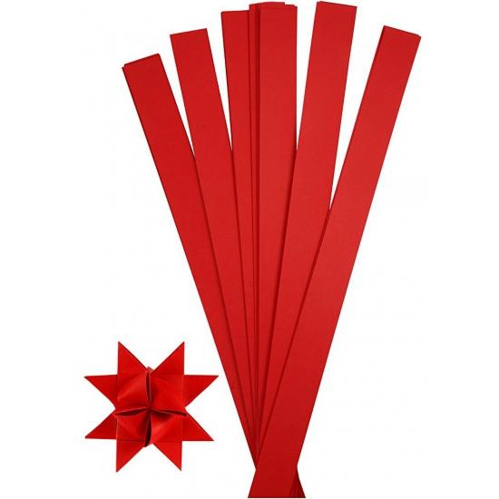 Knutselmateriaal papierstroken rood 73 cm Rood