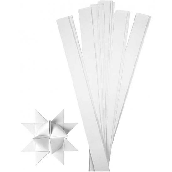Knutselmateriaal papierstroken wit 73 cm Wit