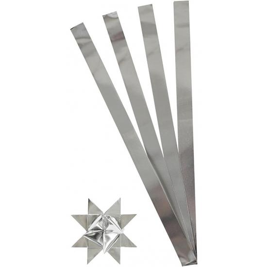 Knutselmateriaal papierstroken zilver 73 cm Zilver