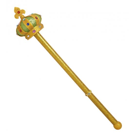 Koninklijke scepter 57 cm Goudkleurig