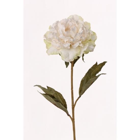 Kunstbloem witte pioenroos 67 cm