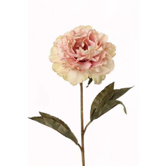 Kunstbloemen roze pioenroos 67 cm