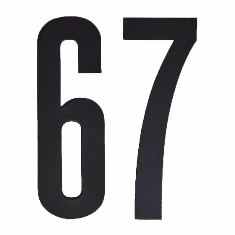 Leeftijd cijfer stickers 67 jaar Zwart