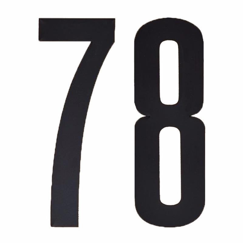 Leeftijd cijfer stickers 78 jaar Zwart