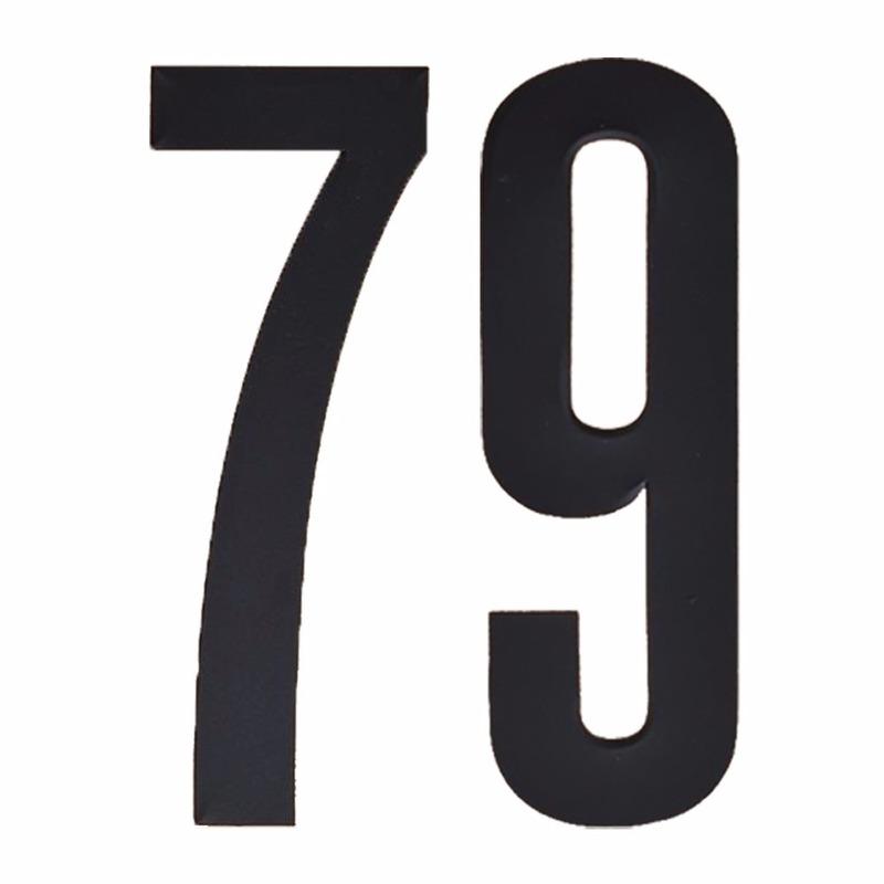 Leeftijd cijfer stickers 79 jaar Zwart