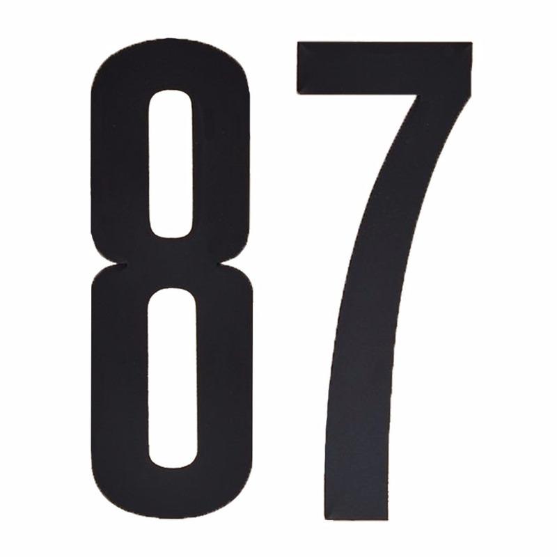 Leeftijd cijfer stickers 87 jaar Zwart
