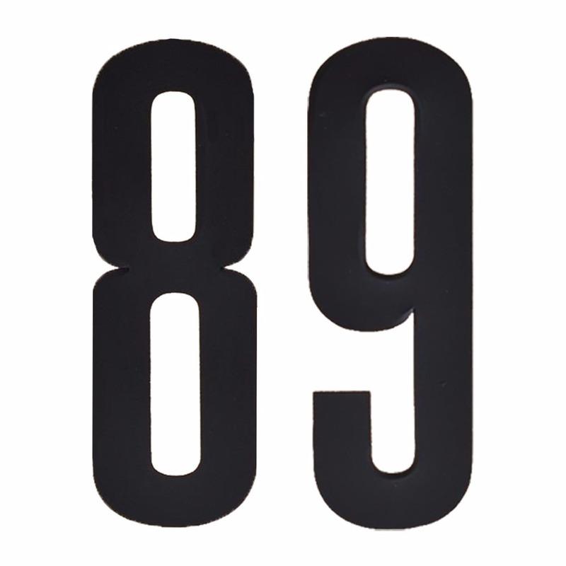 Leeftijd cijfer stickers 89 jaar Zwart
