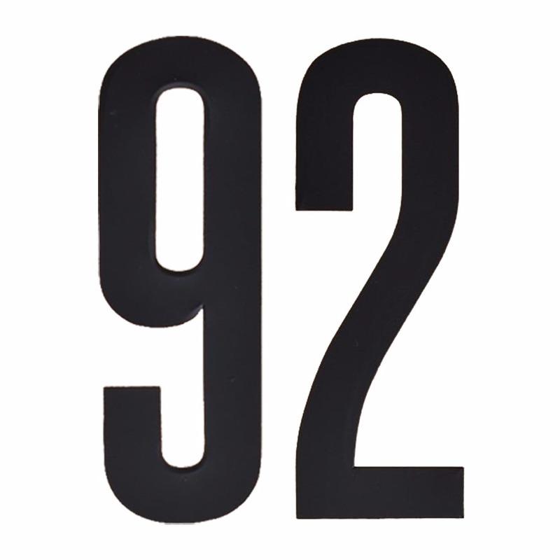 Leeftijd cijfer stickers 92 jaar Zwart
