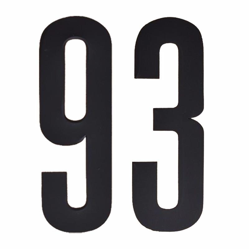 Leeftijd cijfer stickers 93 jaar Zwart