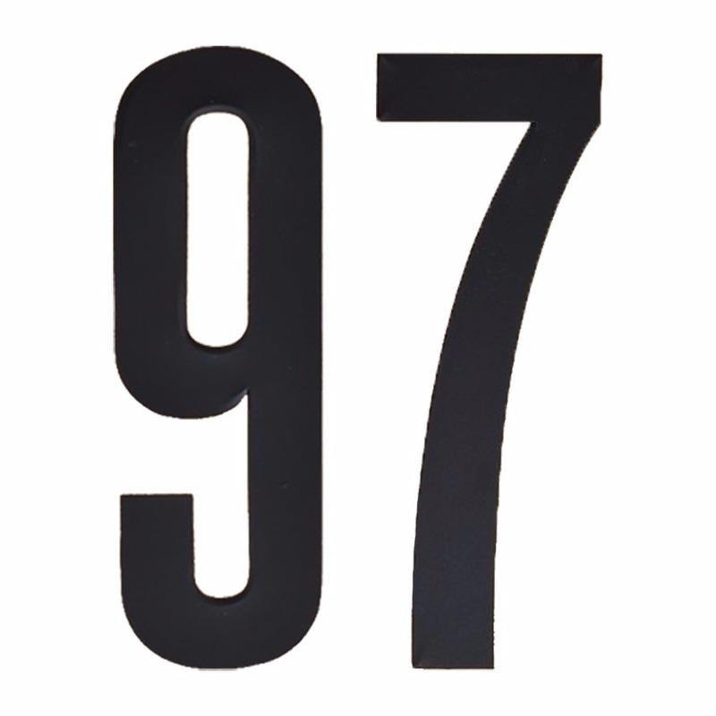 Leeftijd cijfer stickers 97 jaar Zwart