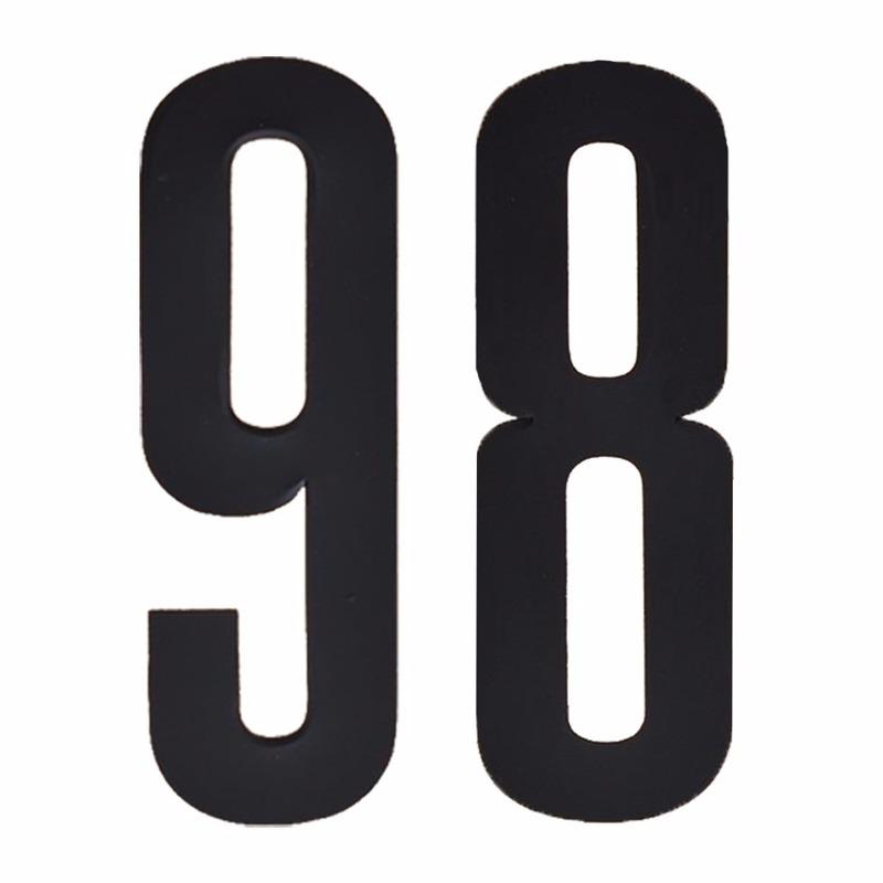 Leeftijd cijfer stickers 98 jaar Zwart