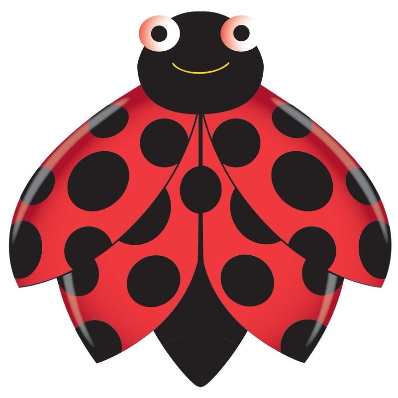 Lieveheersbeestje speel vlieger 76 x 112 cm Rood