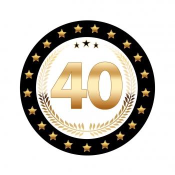 Bedwelming Luxe 40 jarige bierviltjes | Fun en Feest &HL98