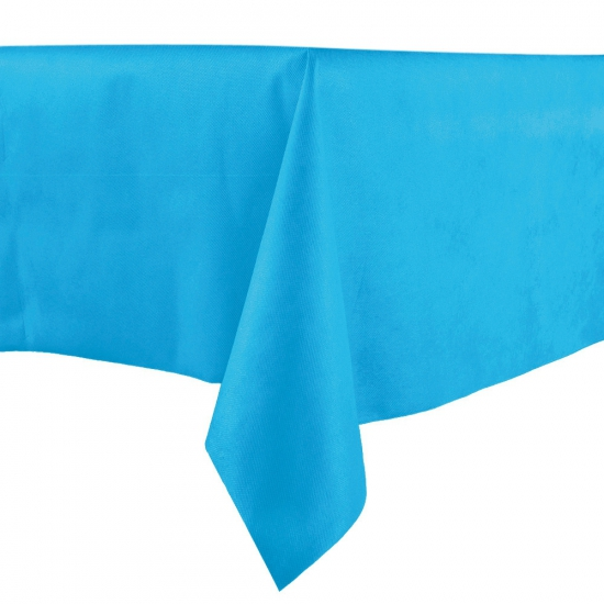 Luxe tafelkleed middenblauw 140 x 240 Blauw
