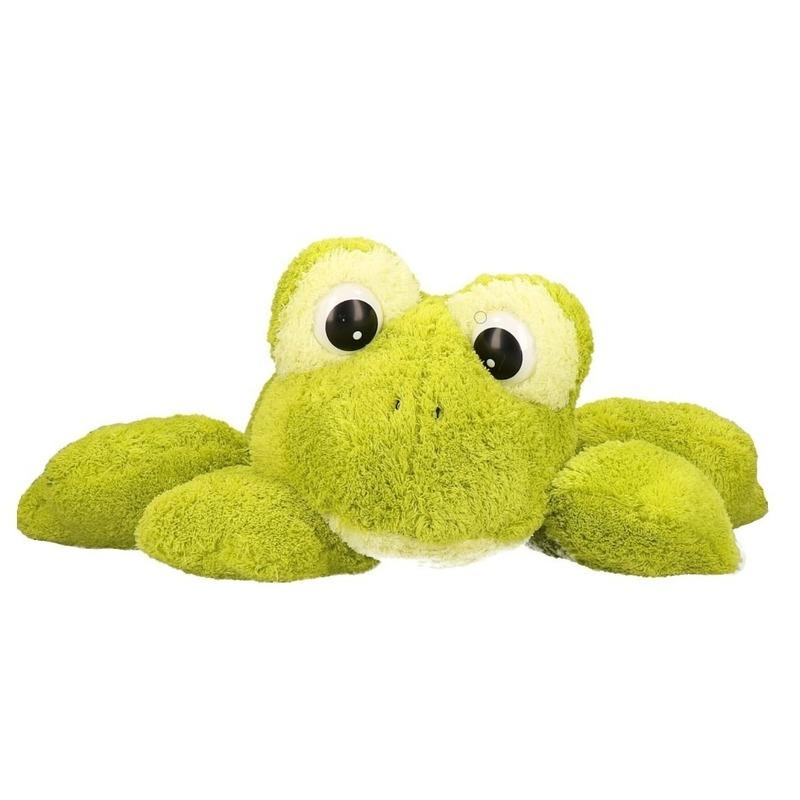 Mega kikker pluche knuffel 97 cm Groen