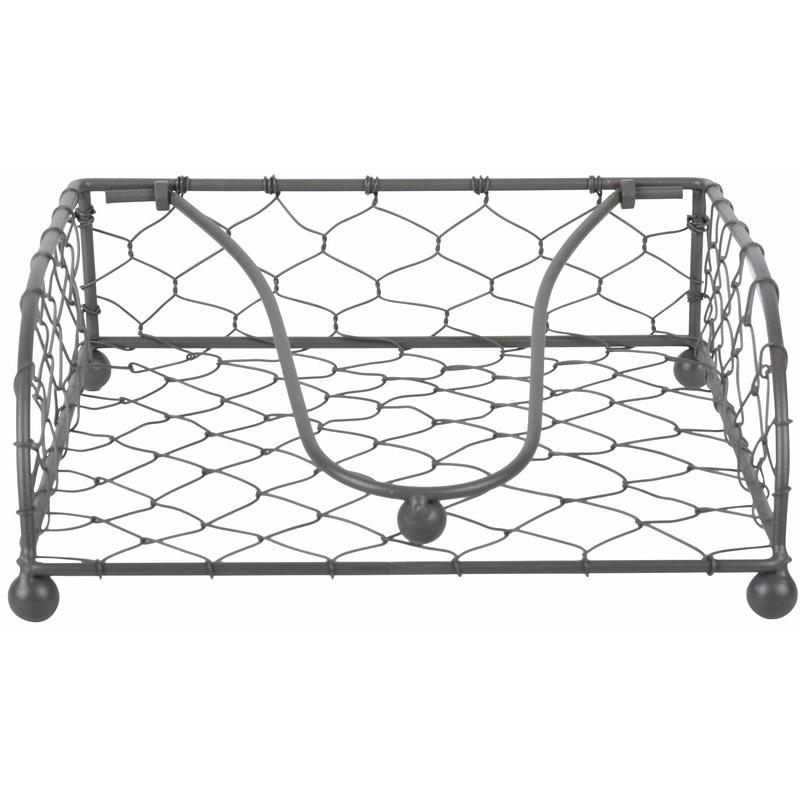 Metaaldraad servethouder 18 x 18 cm Zilver
