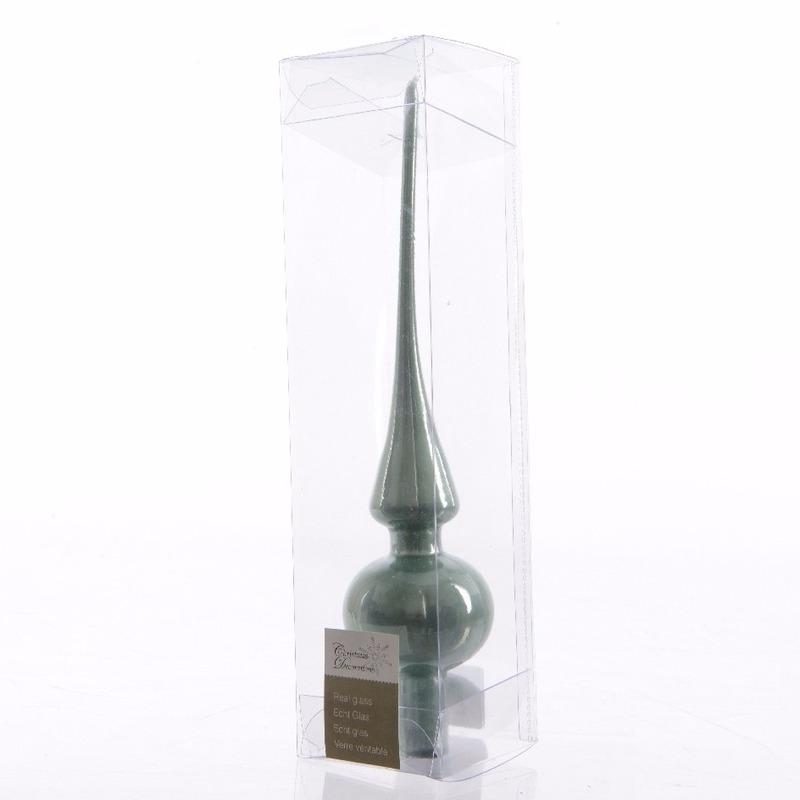 Mintgroene kerstboom piek van glas