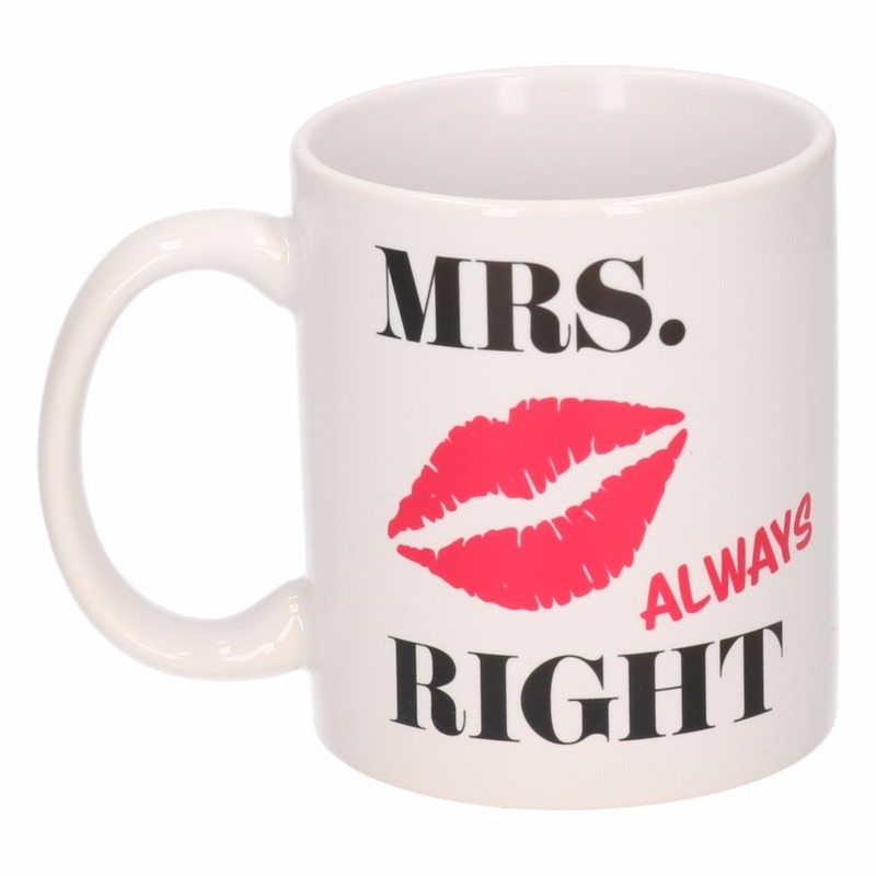 Mrs Alway Right koffiemok / beker 300 ml