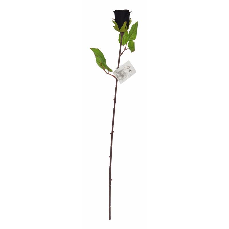 Nep zwarte roos 63 cm