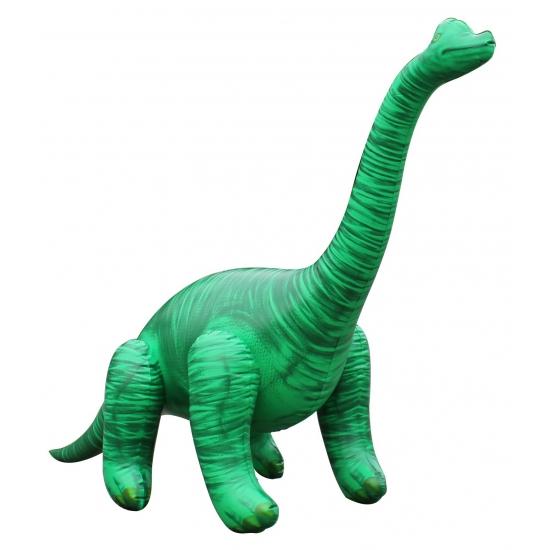 Opblaas Brachiosaurus dino groen 71 cm Multi