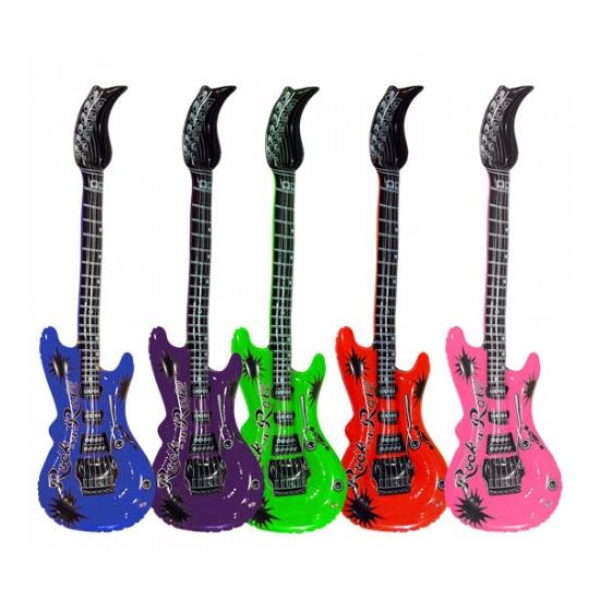 Opblaas elektrische gitaar blauw Multi