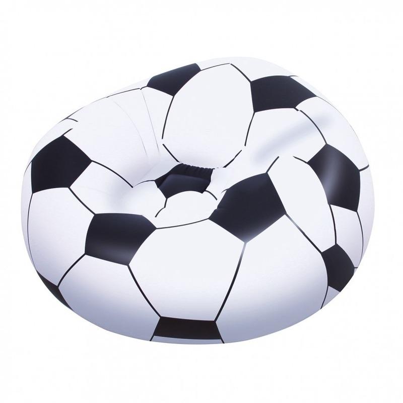 Opblaas voetbalstoel 114 cm Multi