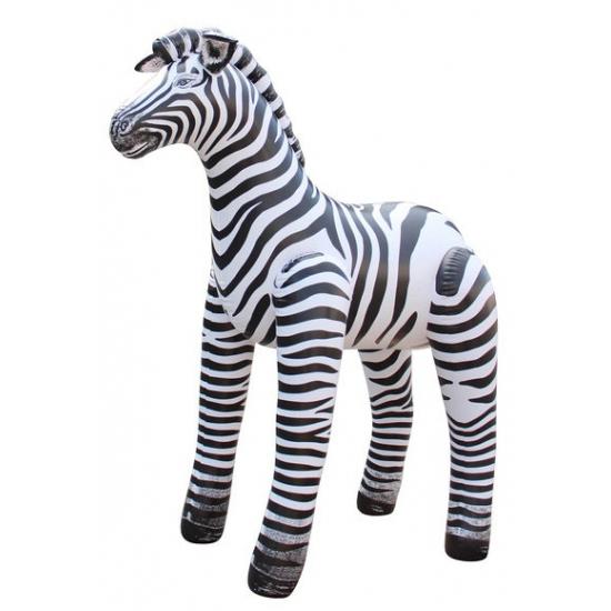 Opblaas zebra zwart/wit gestreept 81 cm
