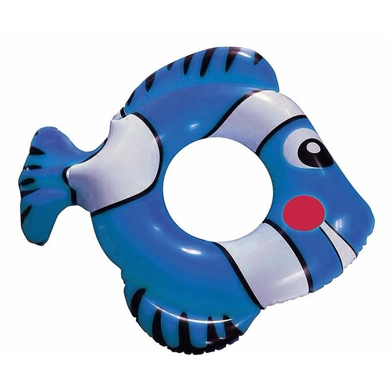 Opblaasbare blauwe vis zwemband 79 cm
