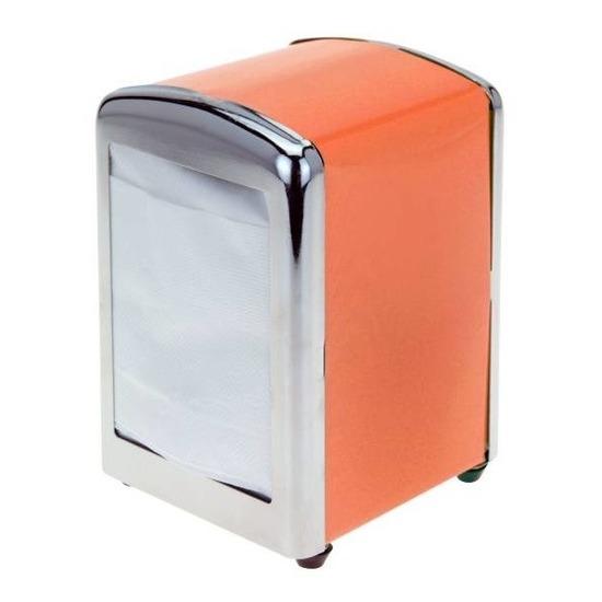 Oranje servettenhouder 14 cm Oranje