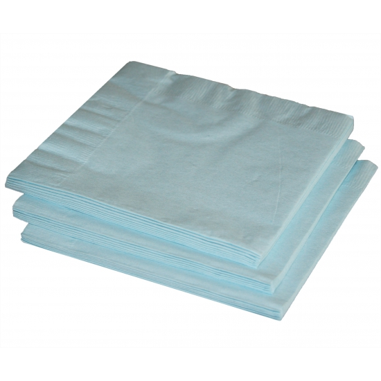 Papieren feest servetten lichtblauw Blauw