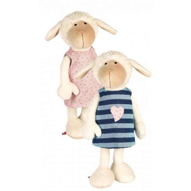 Pluche knuffel schaap met verwisselbaar jurkje 40 cm