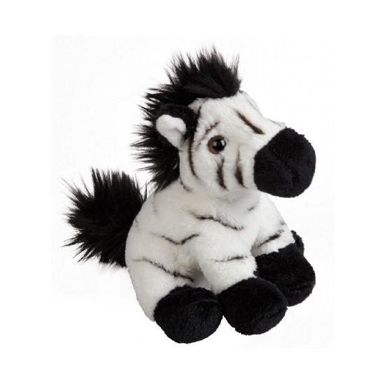 Pluche knuffel zebra 15 cm