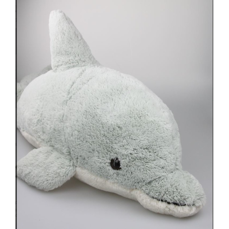 Pluche knuffeldier XXL dolfijn 78 cm Groen