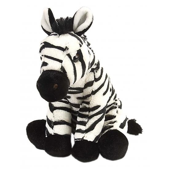 Pluche knuffeltje zebra 30 cm