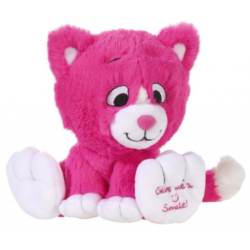 5abffd78683148 Pluche roze katten knuffel 14 cm Roze € 9.95. Bij: fun-en-feest.nl