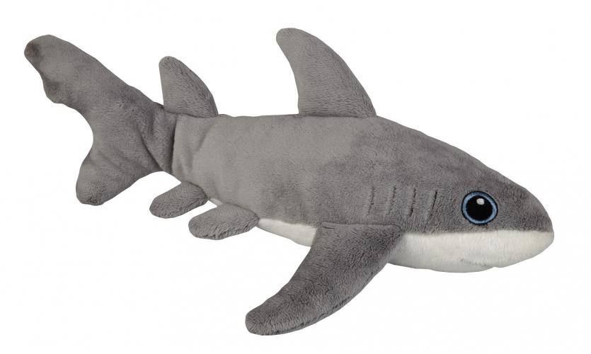 Pluche witte haai 30 cm