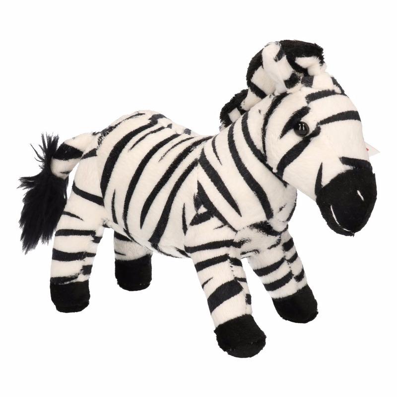 Pluche zebra knuffeltje 18 cm