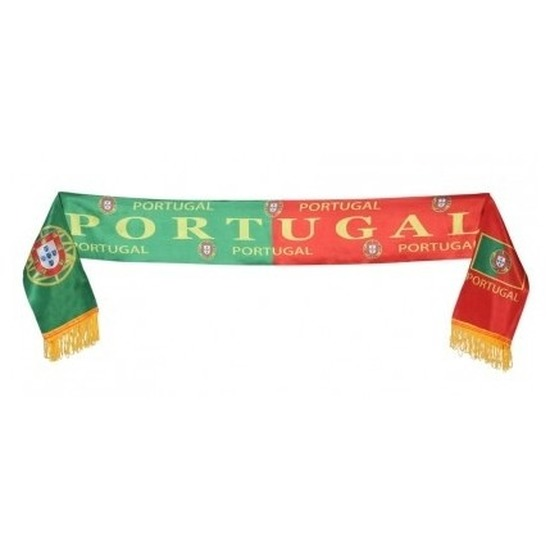 Portugal voetbal sjaaltje rood/groen 130 cm Multi