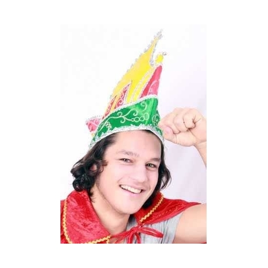 Prins Carnaval muts gekleurd voor volwassenen