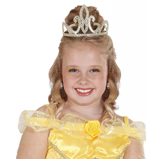 Prinsessen tiara goudkleurig Goudkleurig