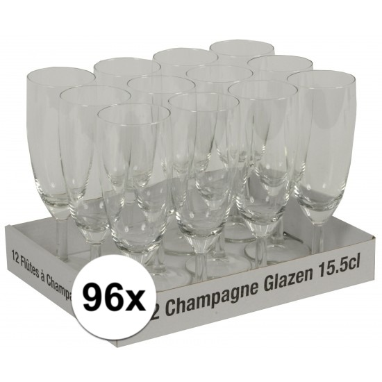 Prosecco glazen 96 stuks