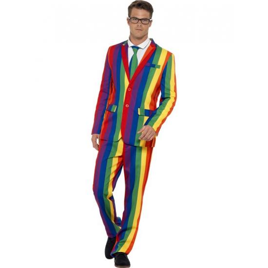 Regenboog heren kostuums