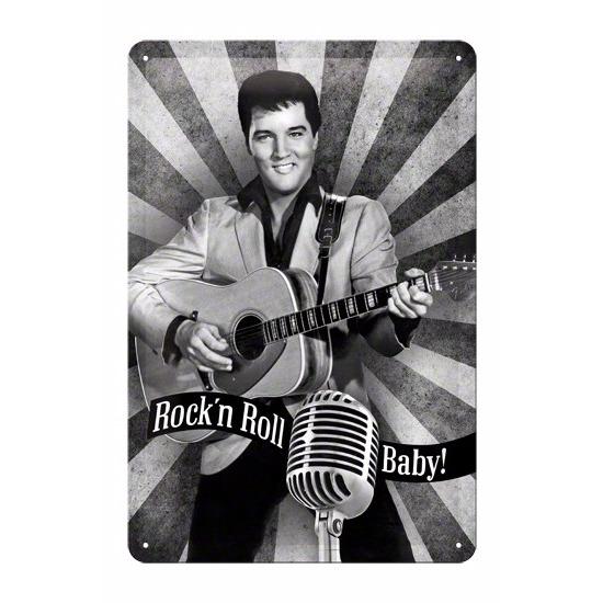 Rock n Roll Baby Muurdecoratie Rock n Roll Baby 20 x 30 cm Multi