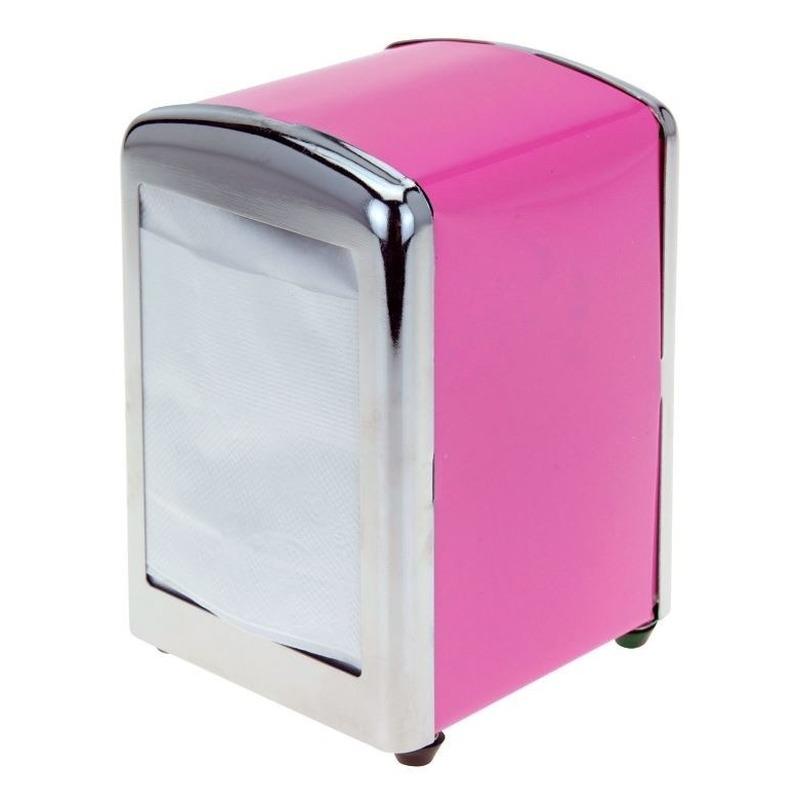 Roze servettenhouder 14 cm Roze