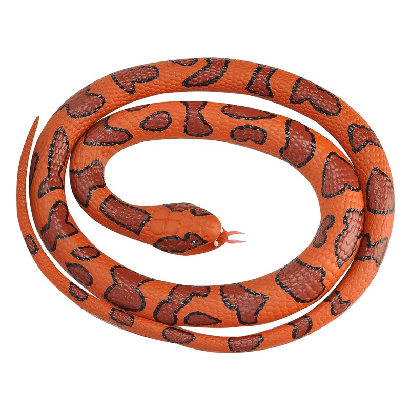 Rubberen dieren watermoccasinslang 117 cm Oranje