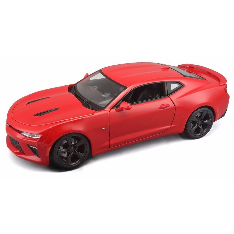 Schaalmodel Chevrolet Camaro 2016 1:18 rood